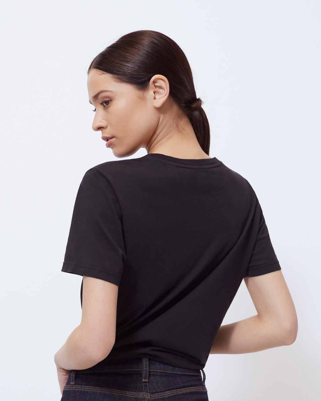 The Jolie Tee in Black