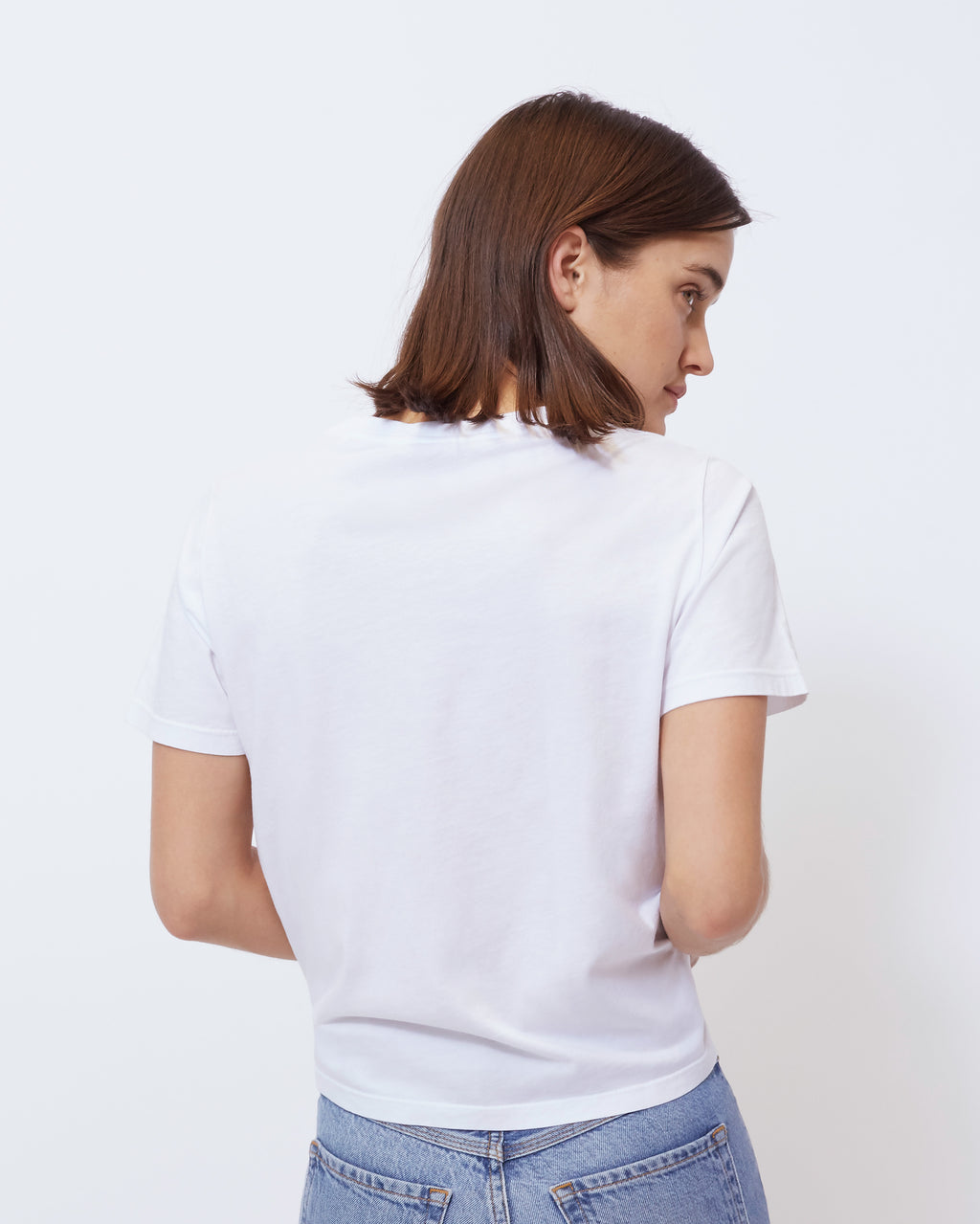The Jolie Tee in Optic White