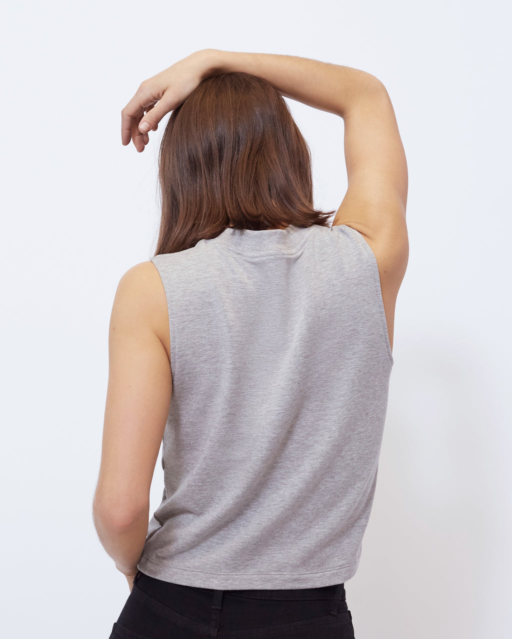 The Abbot Tank in Heather Grey