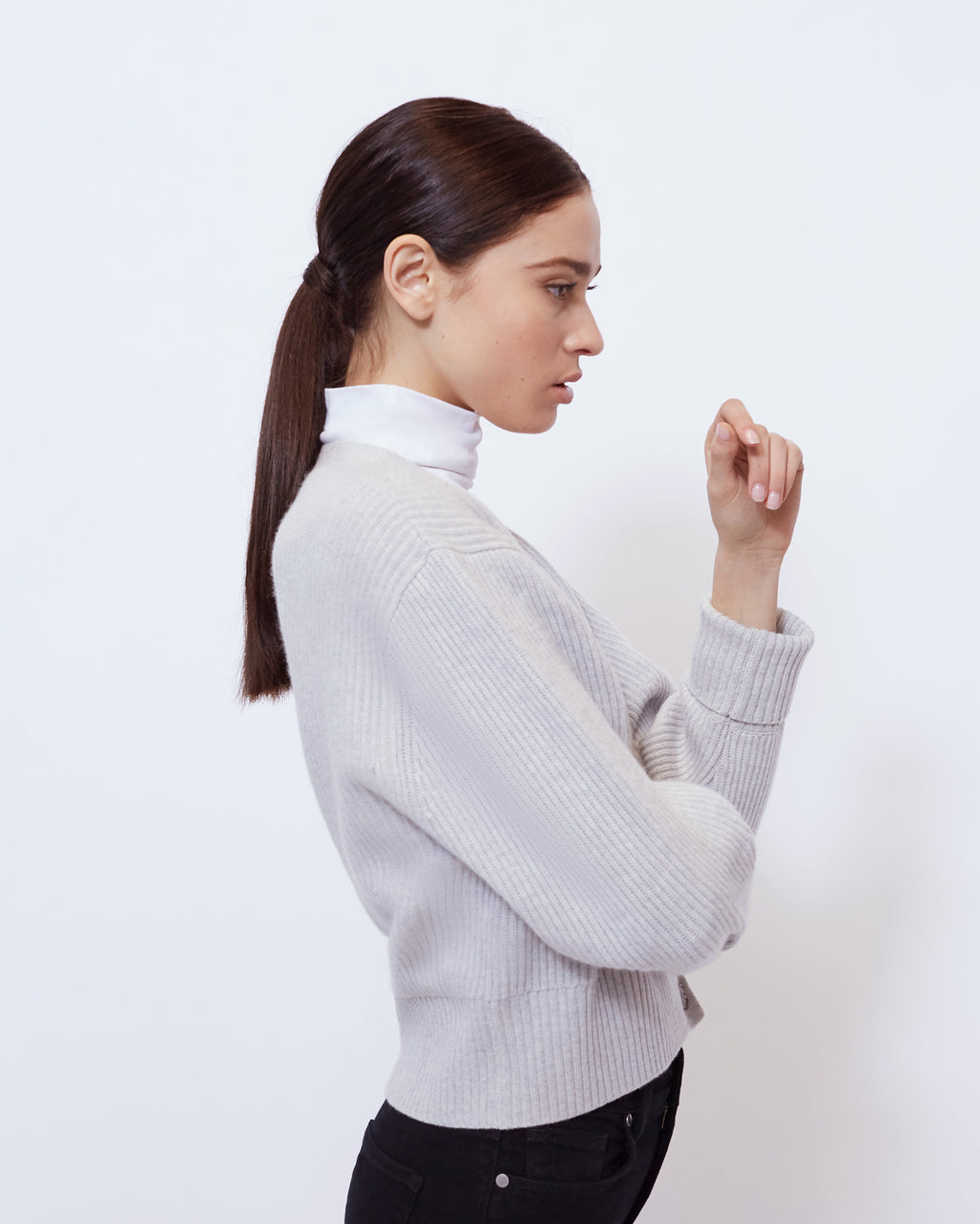 The Sparrow Sweater in Heather Grey