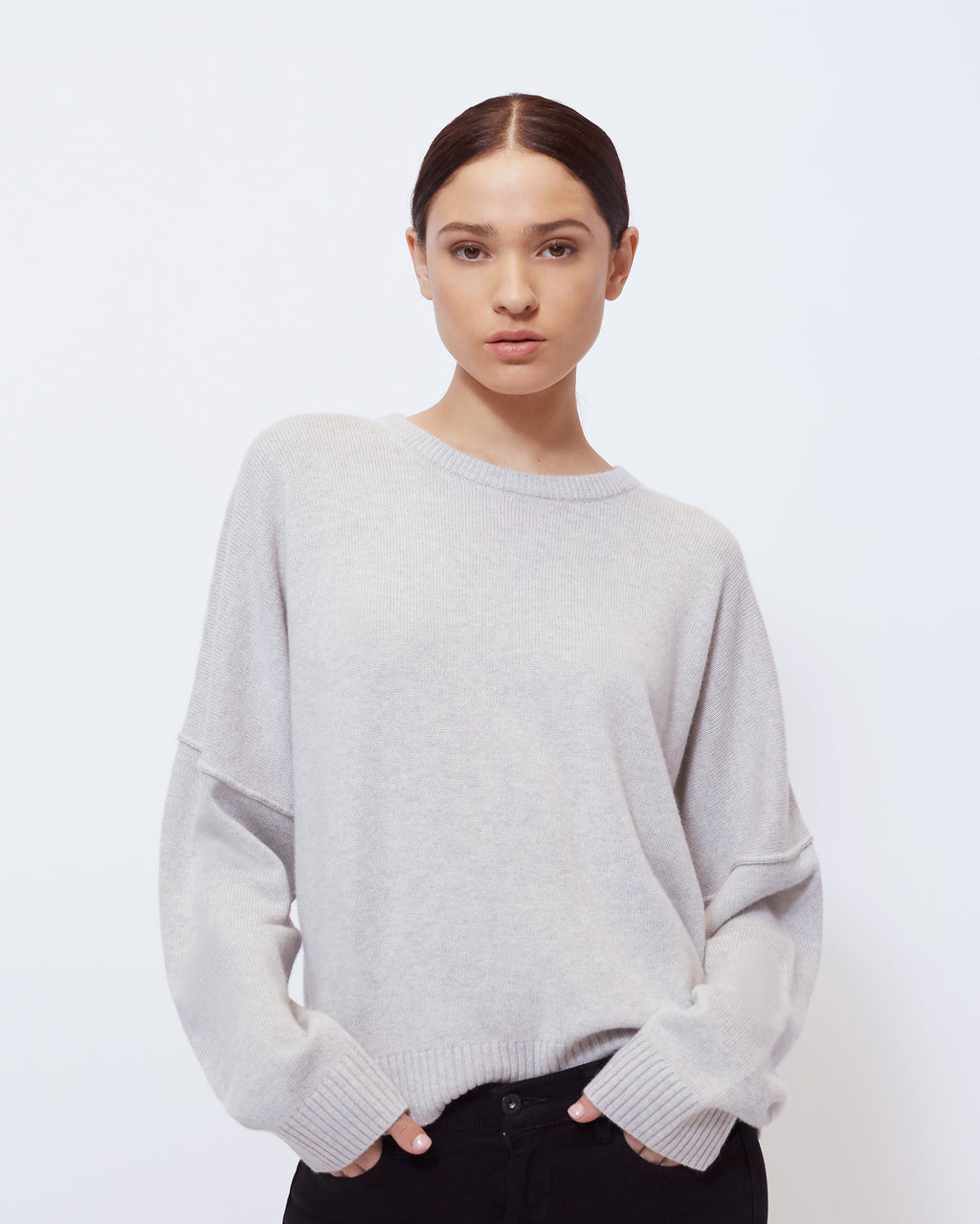 The Winslet Sweater in Heather Grey
