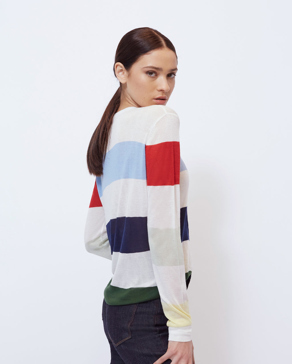 The Lou Sweater in Ivory Multi