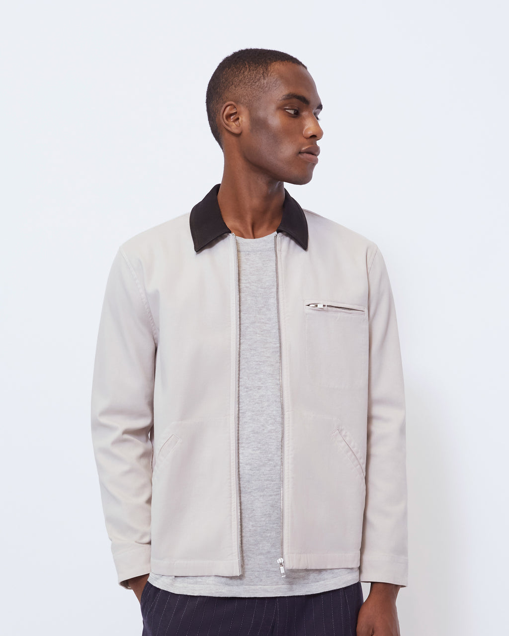 The Duncan Jacket in Stone