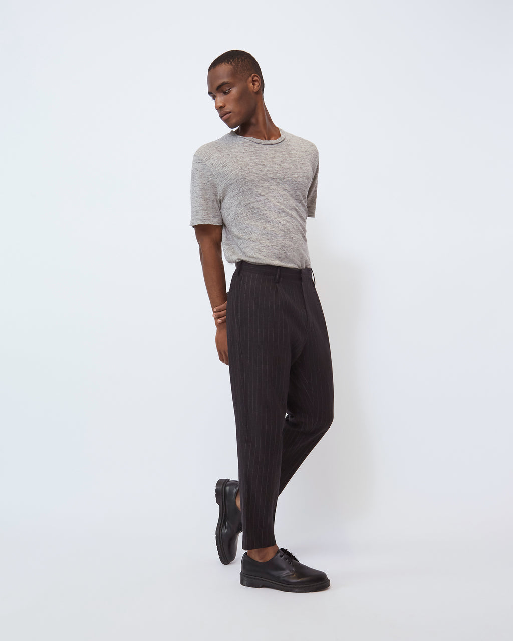 The Sato Pant in Black Stripe