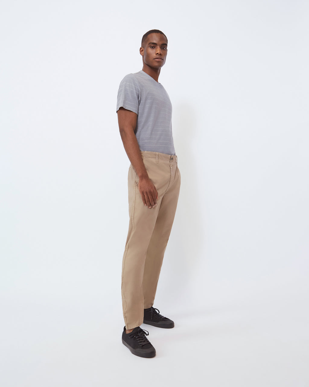 The Modern Slim Trouser in Greige