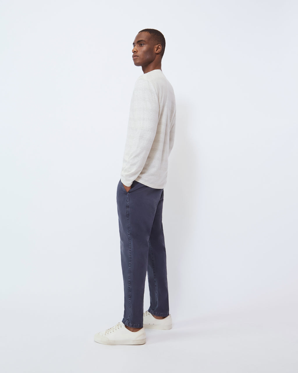 The Modern Slim Trouser in Vintage Navy