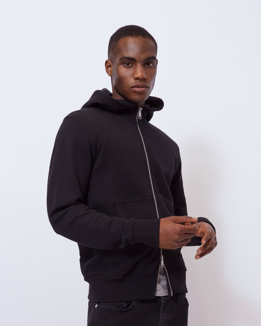 The Asher Hoodie in Black