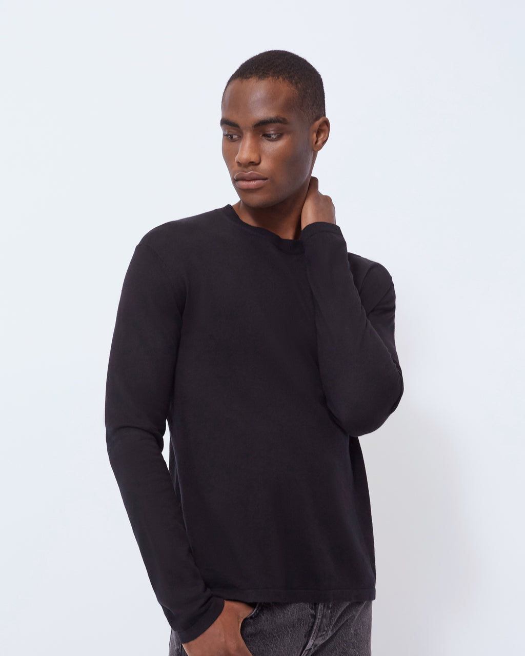 The Inez Sweater in Black