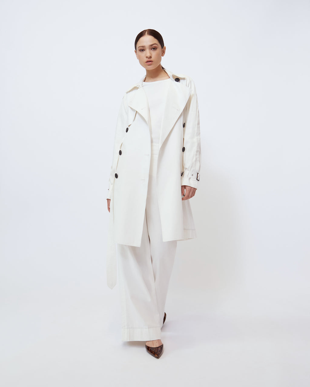 The Sterling Trench in Optic White