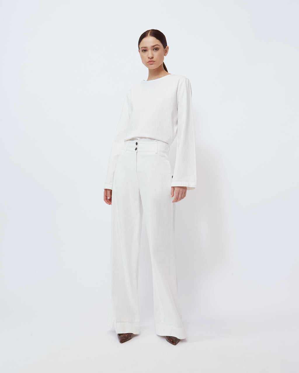 The Wynn Pant in Optic White