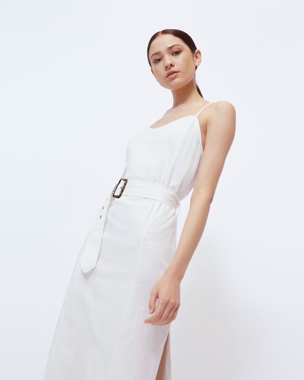 The Landry Dress in Optic White