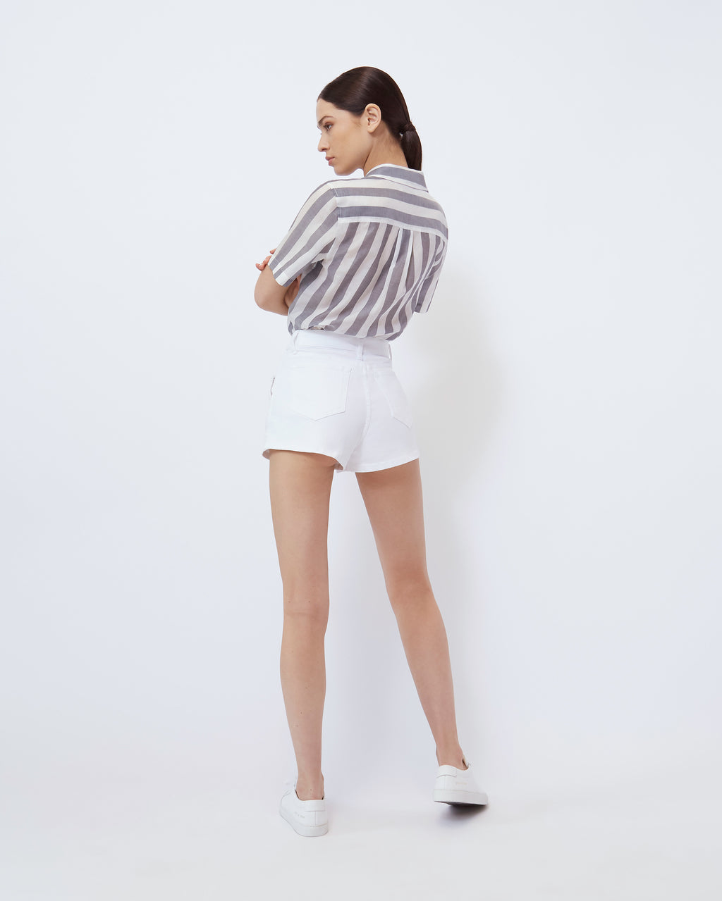The Brie Short in Pure White