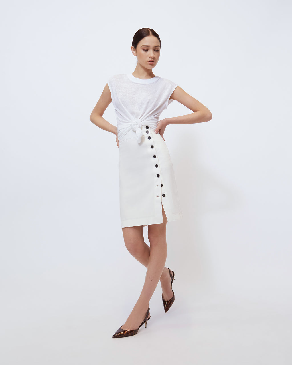 The Wednesday Skirt in Optic White