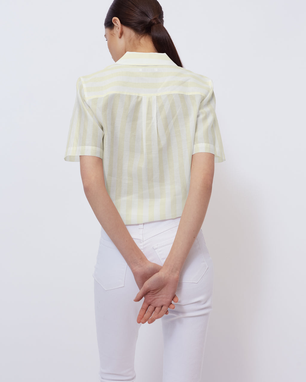 The Ruby Top in Optic White/ Sunkiss