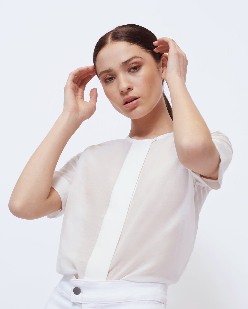 The Jody Top in Optic White