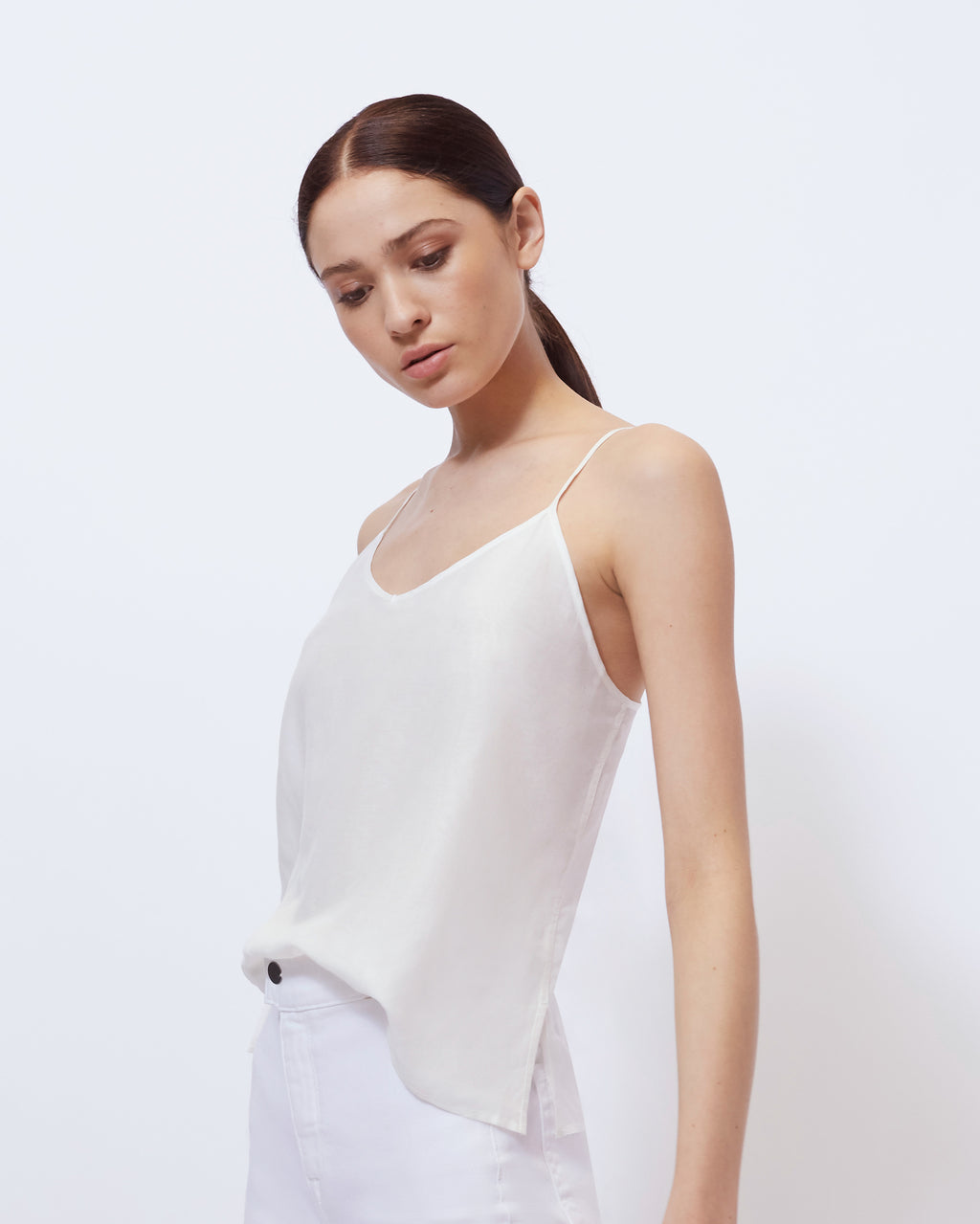 The Quinn Top in Optic White
