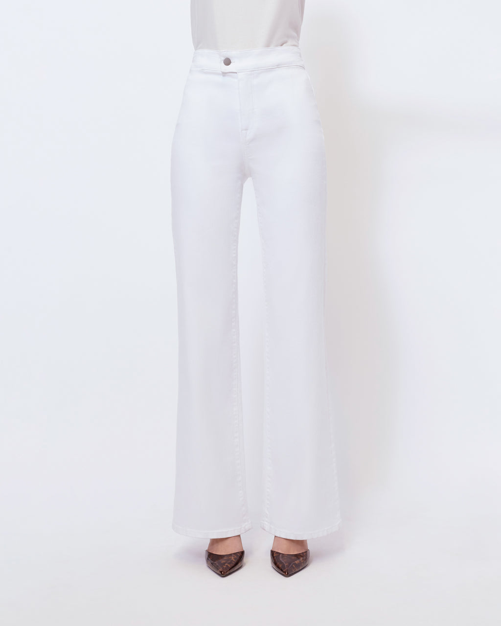 The Piper Pant in Pure White