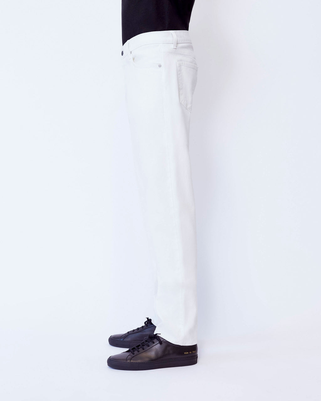 The Modern Slim Jean in White Stretch Selvedge