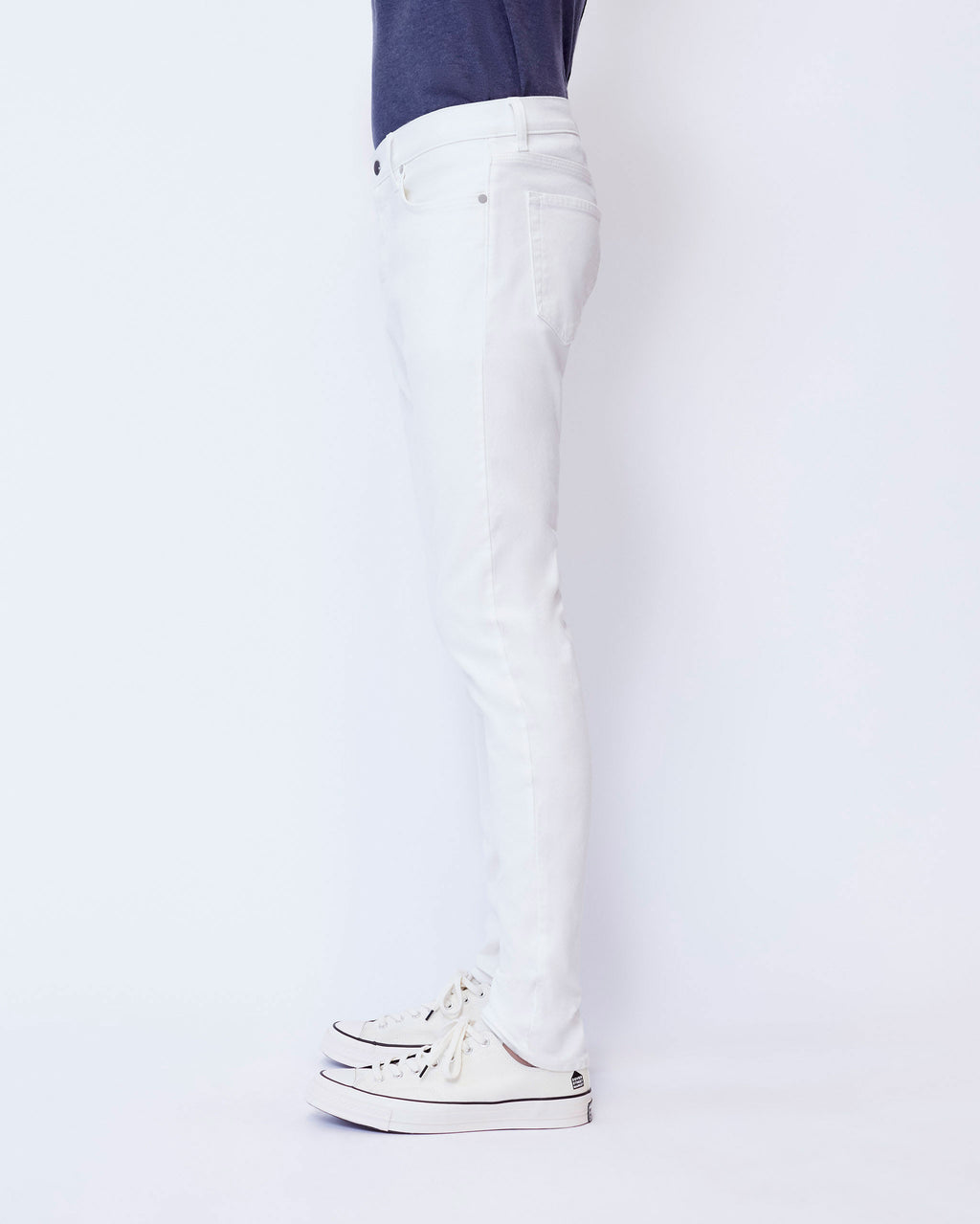 The Modern Skinny Jean in White Stretch Selvedge