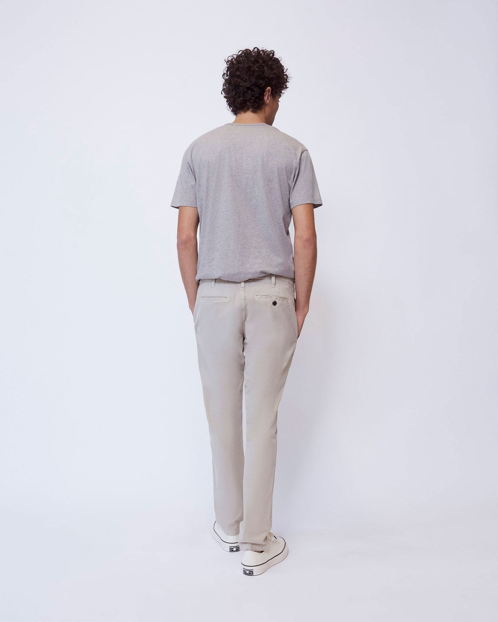 The Modern Slim Trouser in Light Sand