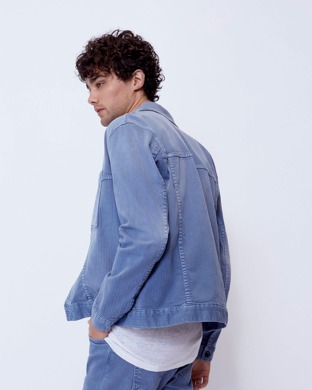 The Druid Jacket in Vintage Indigo