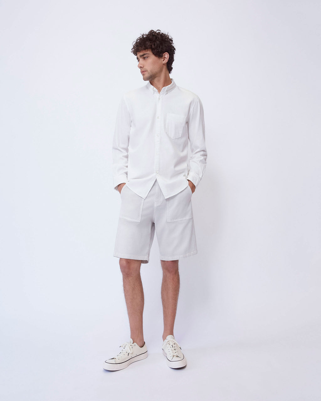 The Nathan Shirt in Washed White