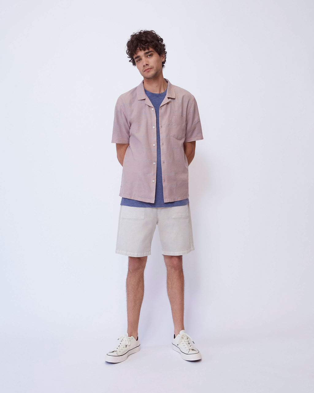 The Cabus Shirt in Dusty Pink