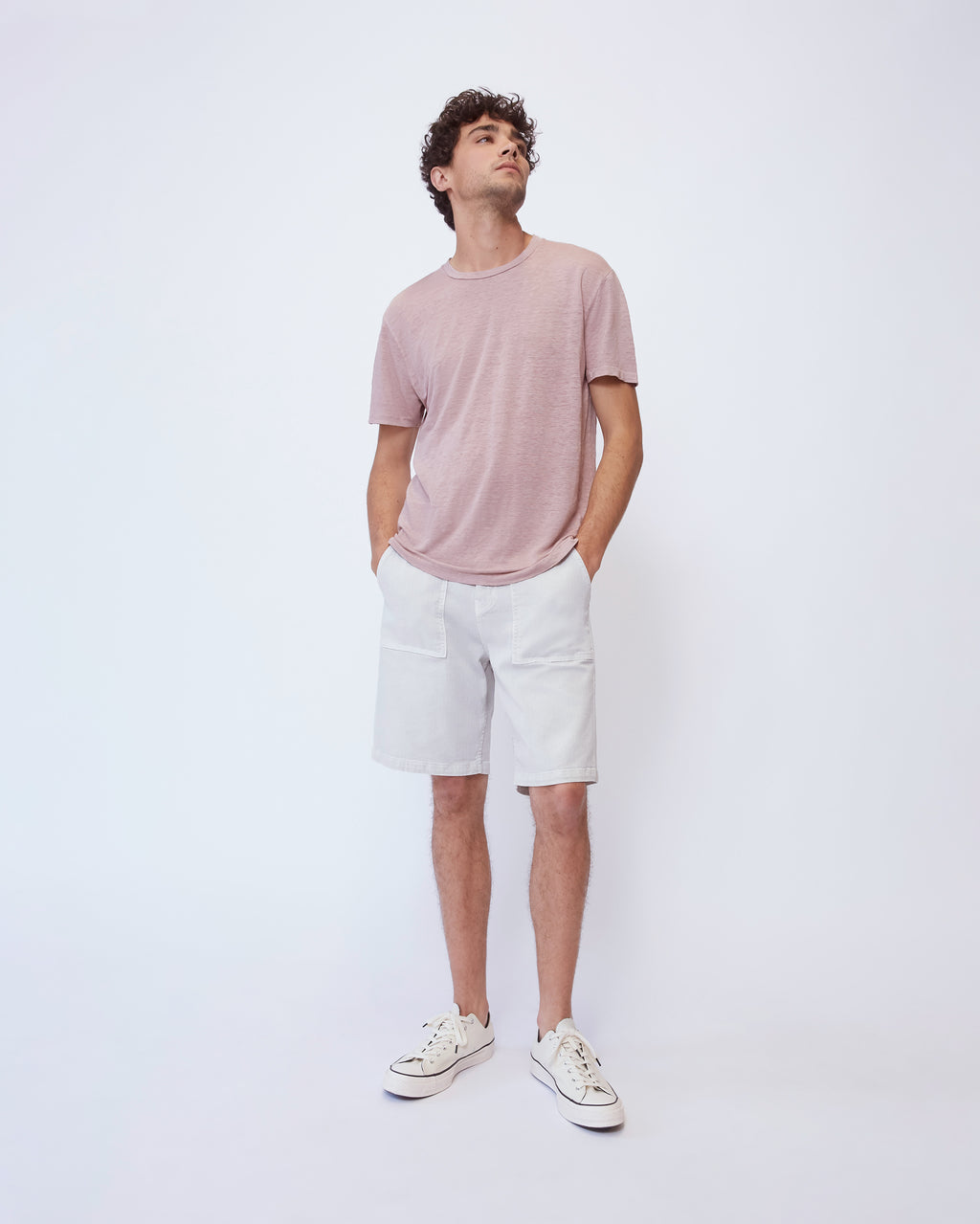 The Nolen Tee in Dusty Pink