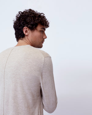 The Inez Sweater in Light Sand
