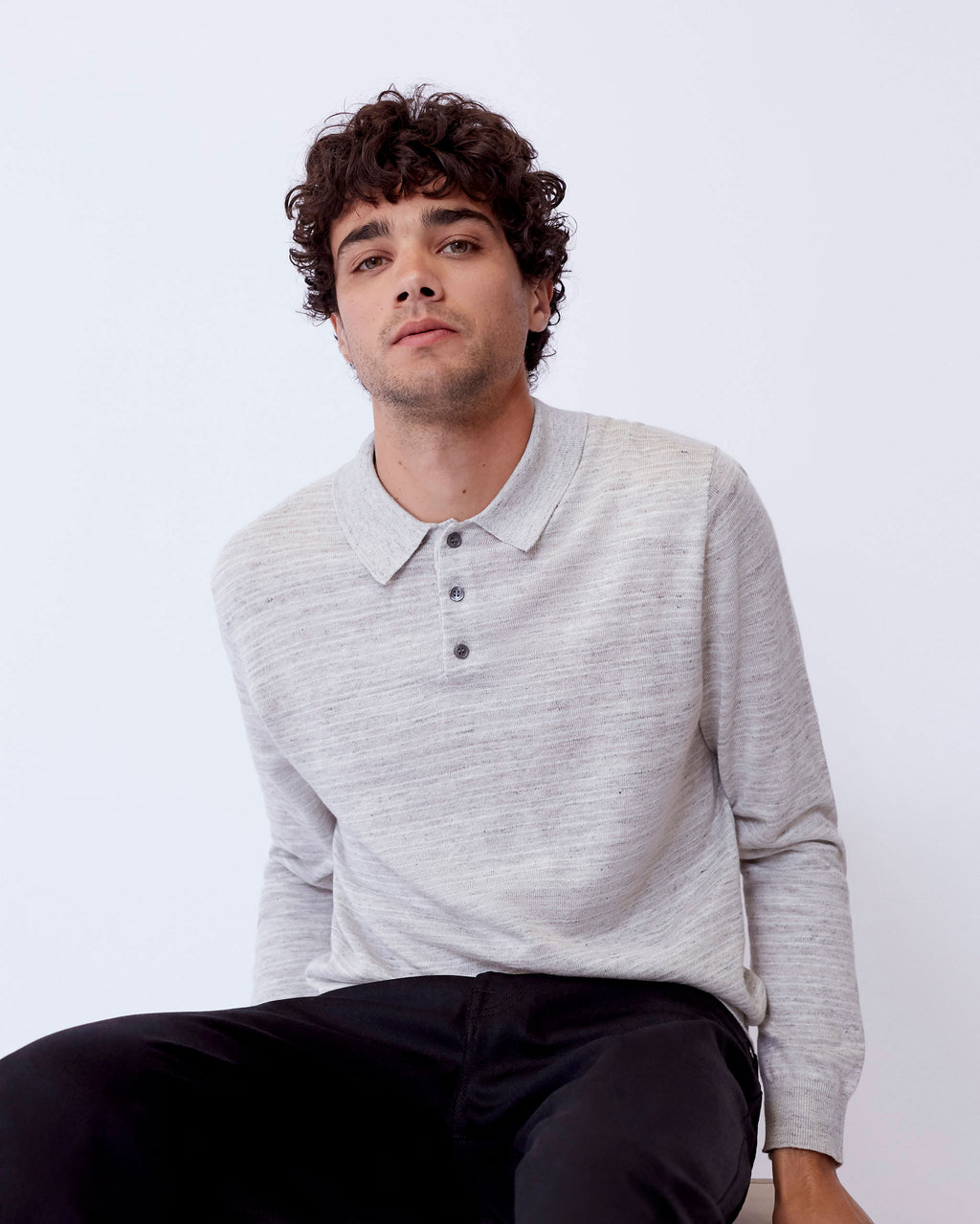 The Sarasota Sweater in Light Grey