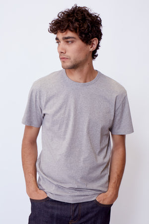 The Modern Classic Tee in Heather Grey