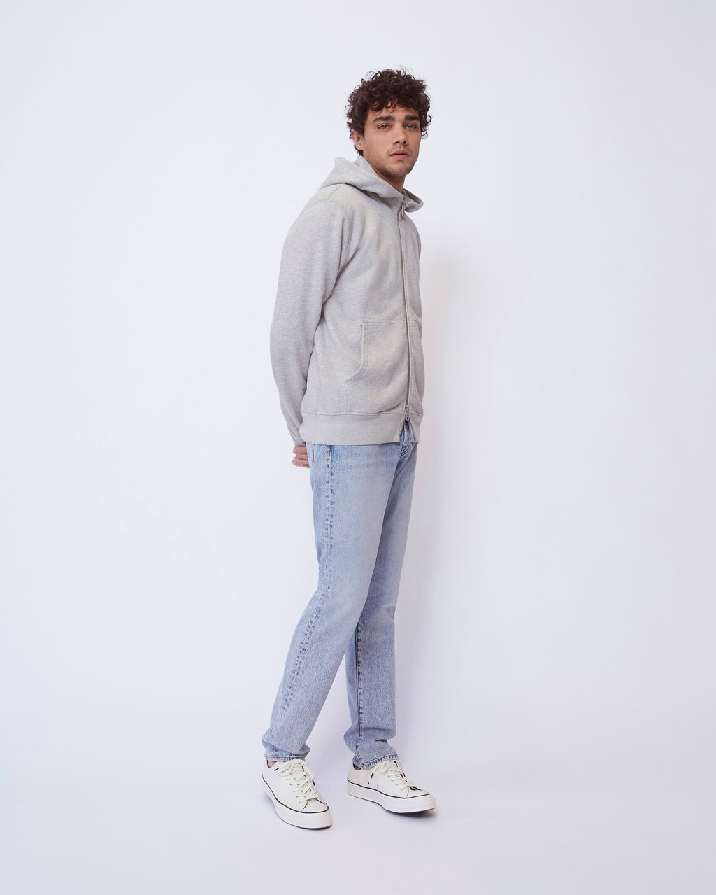 The Asher Hoodie in Heather Grey
