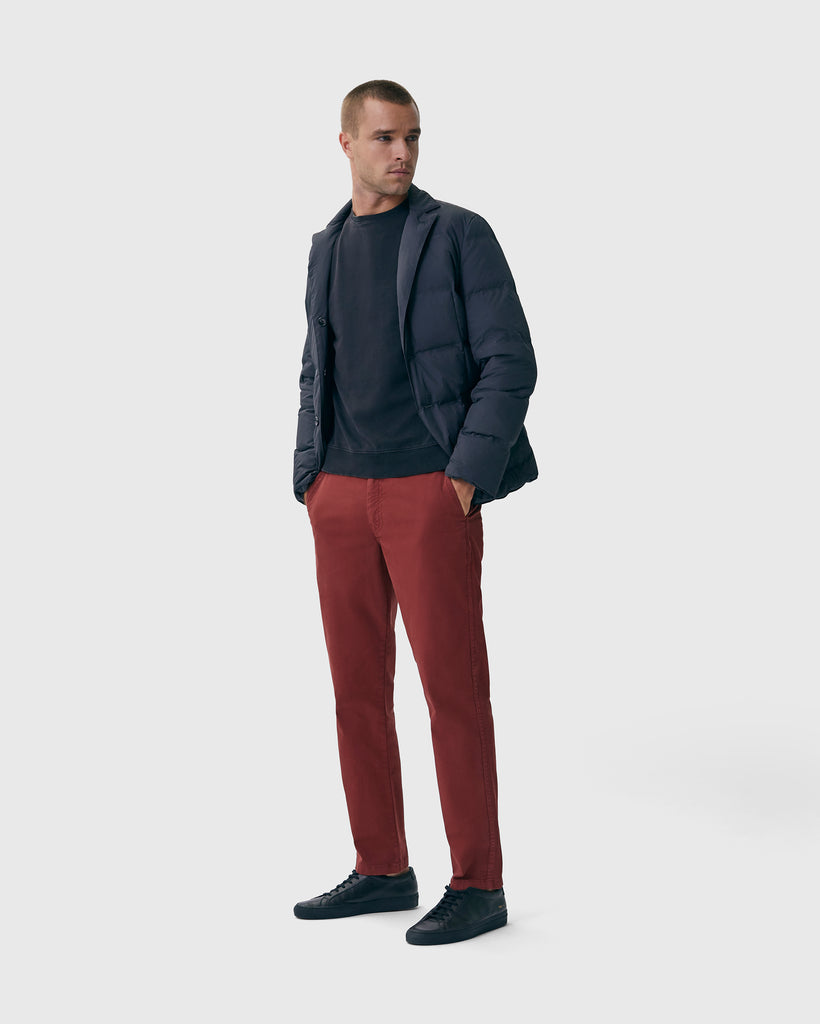 The Modern Slim Trouser in Spiced Red