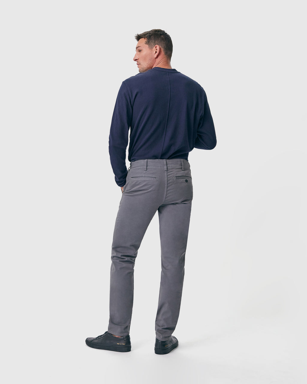 The Modern Slim Trouser in Pewter