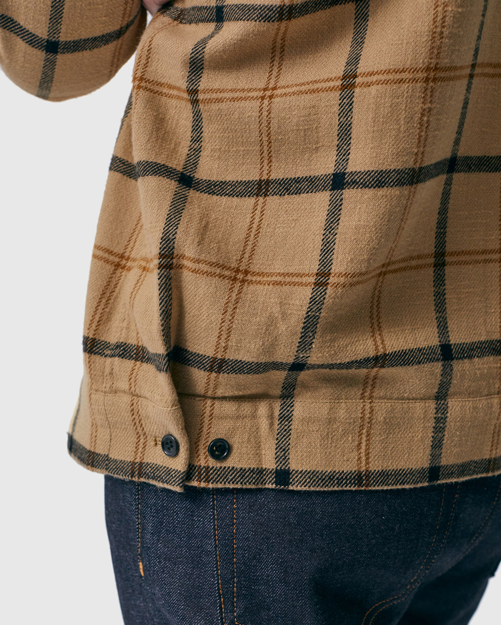 The Dodd Shirt in Tan Plaid
