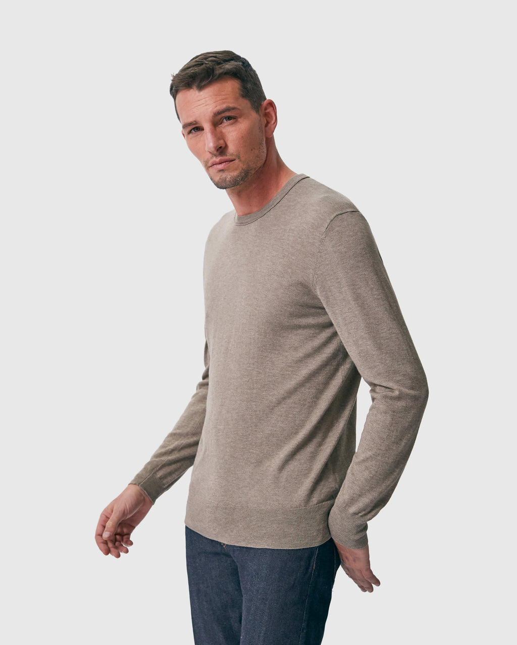 The Lesh Sweater in Beige