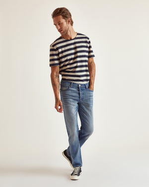 The Modern Slim Jean in Light Blue Stretch Selvedge