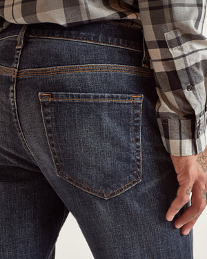 The Modern Skinny Jean in Rich Blue Stretch Selvedge