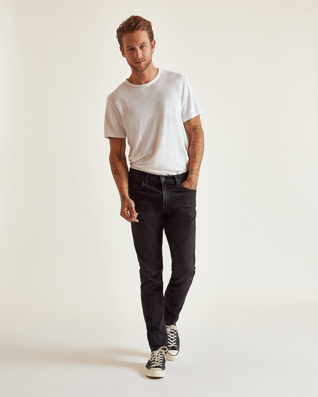 The Modern Skinny Jean in Washed Black