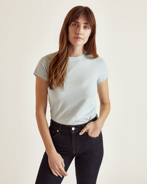 The Perry Tee in Pool Blue
