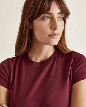 The Perry Tee in Bordeux