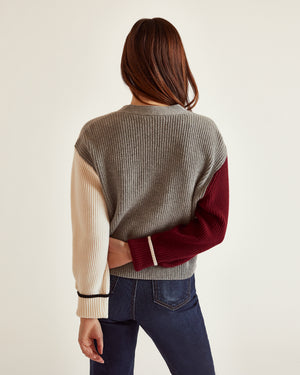 The Sparrow Cardigan in Grey Multi