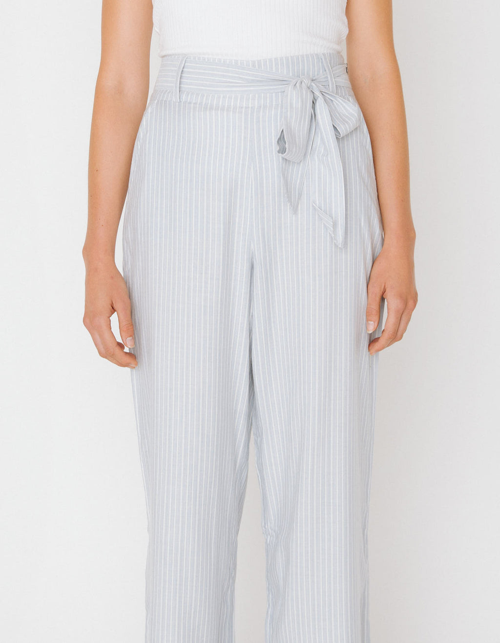 The Simone Pant in Faded Stripe
