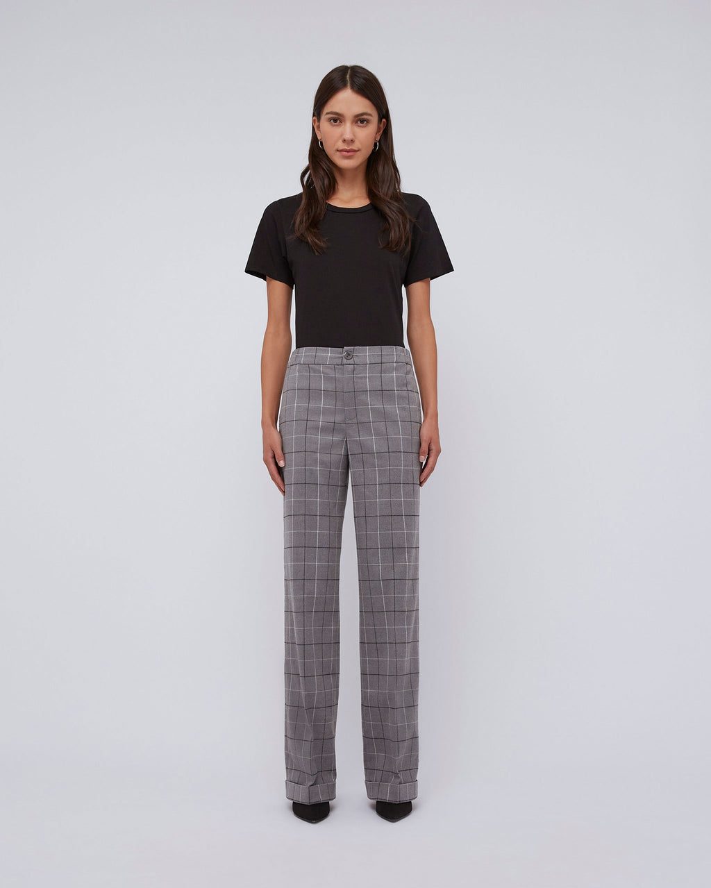 The Karol Pant In Mist Plaid
