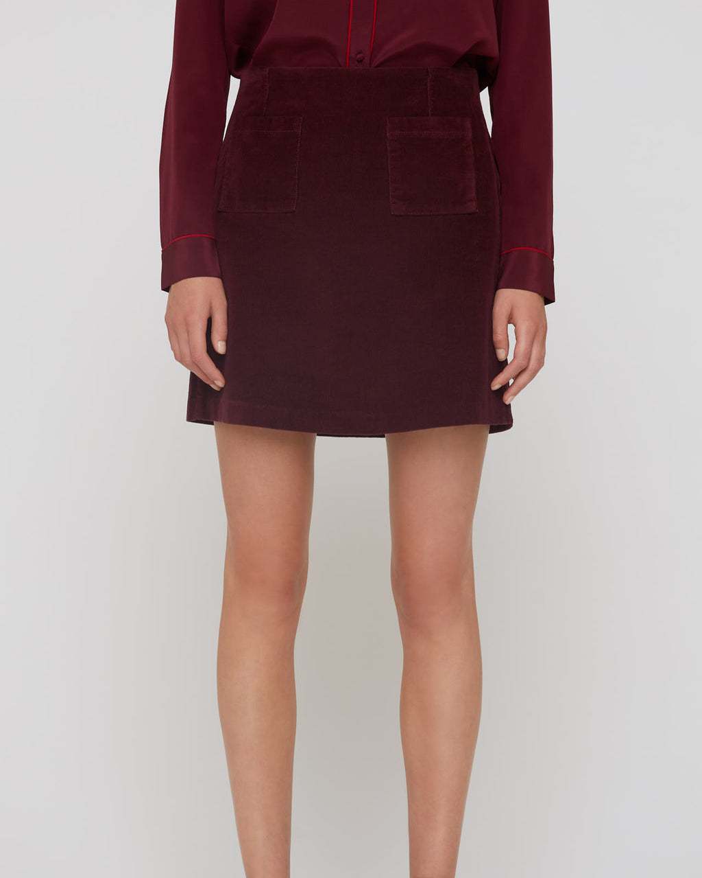 The Lucy Skirt Mulberry Corduroy