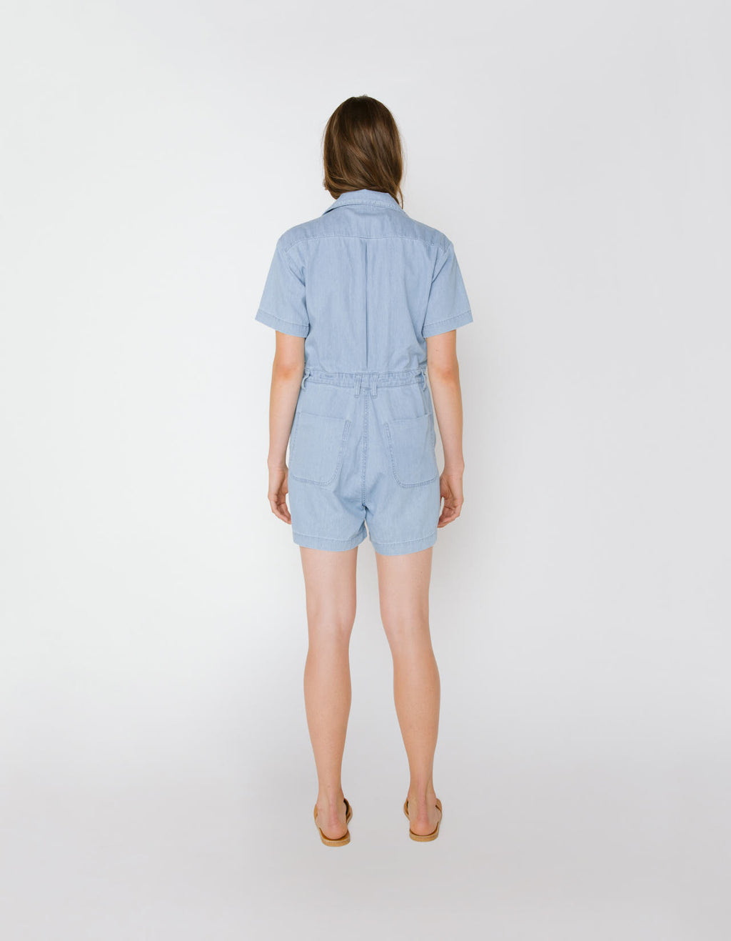 The Aurora Romper in Light Indigo