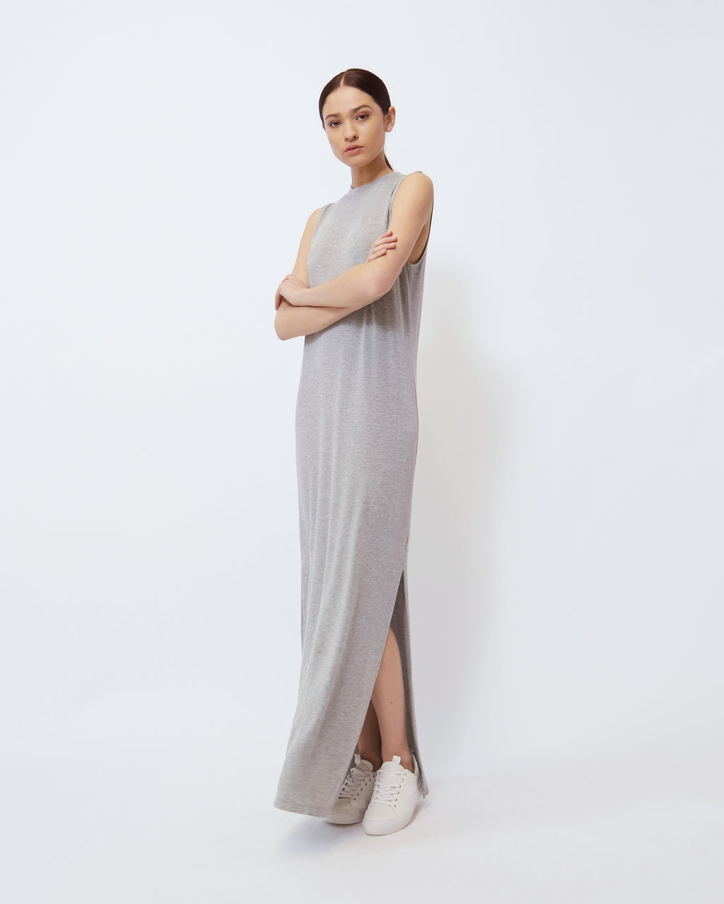 The Abbot Dress in Heather Grey