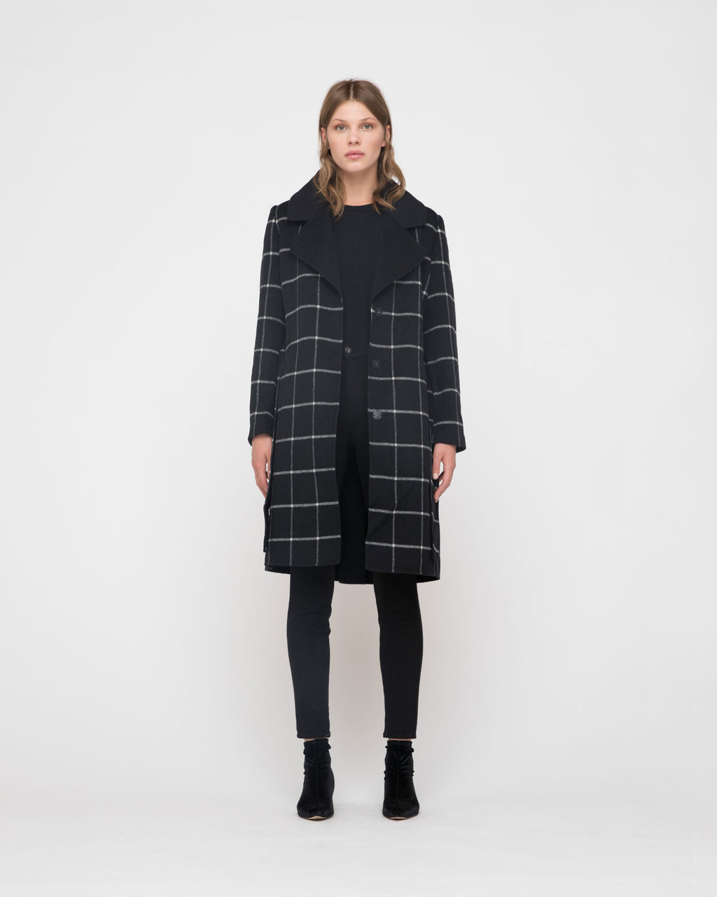 The Skyler Coat in Black Plaid
