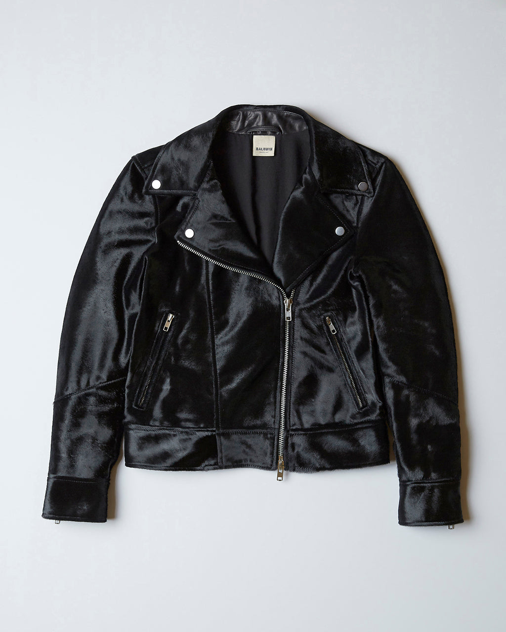 The Flint Jacket In Black Calf Hair