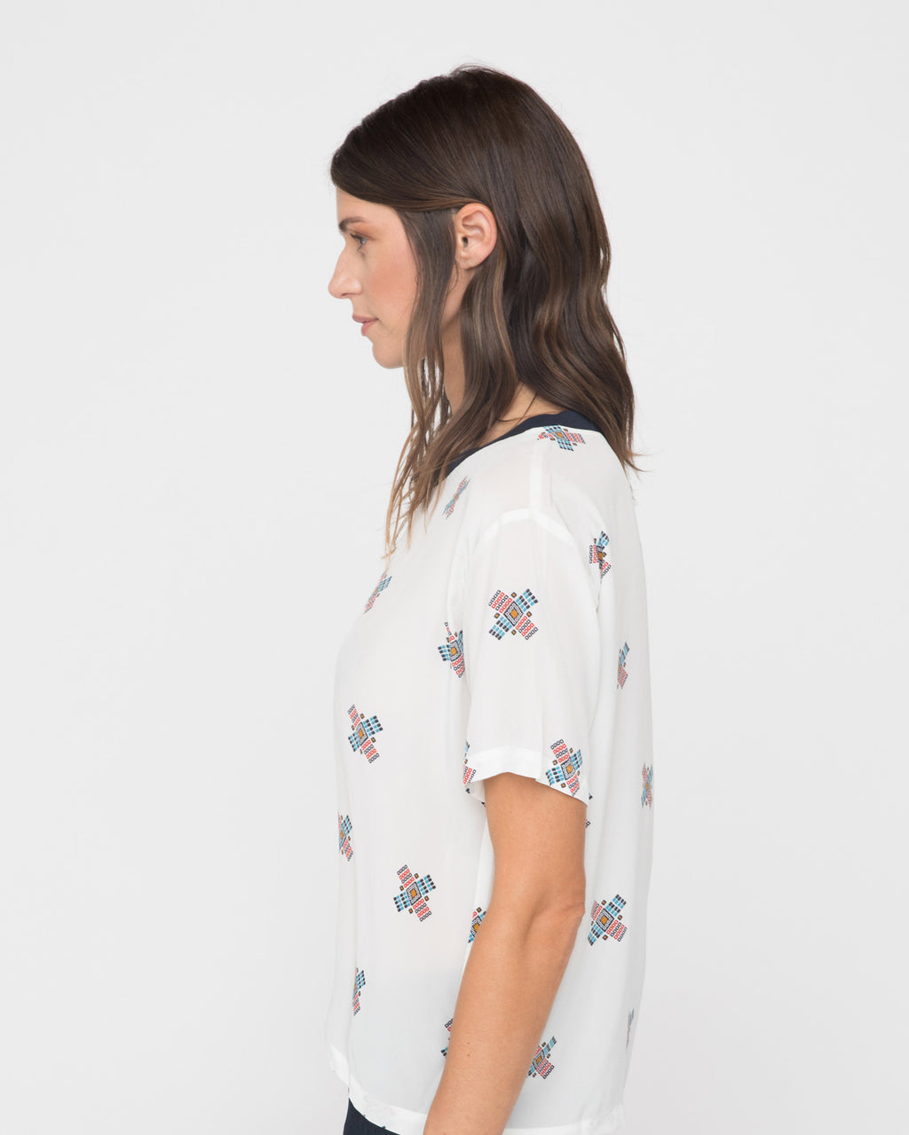 The Myra Top in Southwest Print